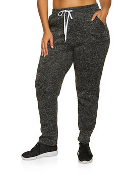 Plus Size Marled Joggers - 1951038347611