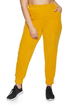 Plus Size Pull On Corduroy Joggers - 1951038347772