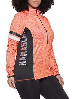 Plus Size Namaslay Active Zip Top - 1951038348810