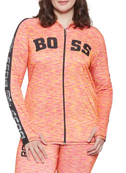 61de07a1b2a Plus Size Boss Graphic Activewear Sweatshirt - 1951038349909