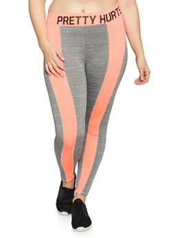 Plus Size Pretty Hurts Activewear Leggings - 1951038349914