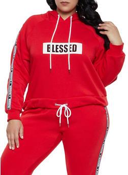 Plus Size Hashtag Blessed Sweatshirt - 1951051060043