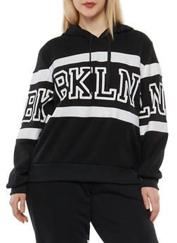 Plus Size BKLN Graphic Sweatshirt - 1951051060050