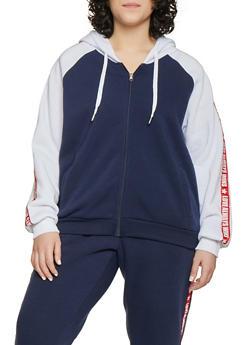 Plus Size Love Always Wins Hooded Sweatshirt - 1951051060072