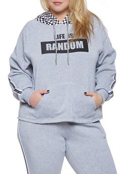 Plus Size Life is Random Graphic Sweatshirt - 1951051060091