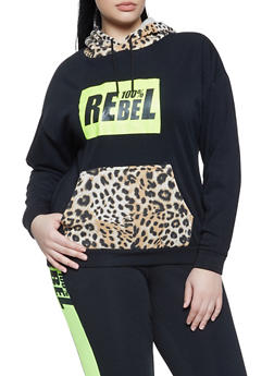 Plus Size 100 Percent Rebel Fleece Sweatshirt - 1951051061470