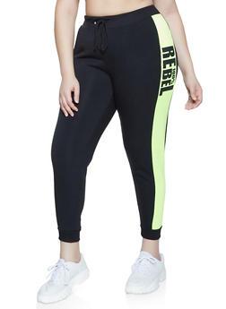 Plus Size 100 Percent Rebel Joggers - 1951051061471