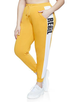 Plus Size 100 Percent Rebel Joggers - 1951051061471
