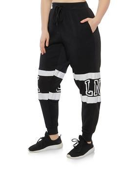 Plus Size Brooklyn Graphic Sweatpants - 1951051063746