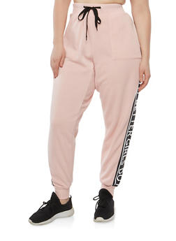 Plus Size Girls Do It Better Graphic Sweatpants - 1951051063758