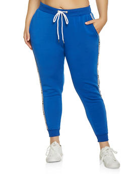 Plus Size Hashtag Blessed Joggers - 1951051064056