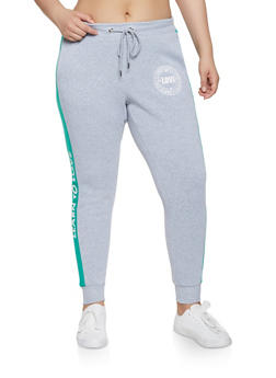 Plus Size Learn to Love Graphic Joggers - 1951051064072