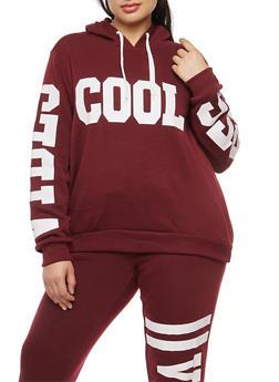 Plus Size Cool Vibes Graphic Sweatshirt - 1951051066133