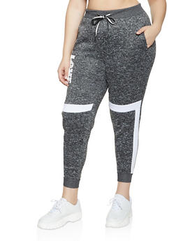 Plus Size Love Knit Joggers - 1951051066941