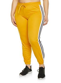 Plus Size Varsity Stripe Sweatpants - 1951062700008