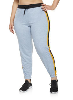 Plus Size Side Stripe Sweatpants - 1951062700016