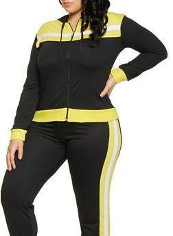 Plus Size Hooded Sweatshirt - 1951062700029