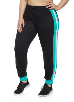 Plus Size Side Stripe Sweatpants - 1951062700030