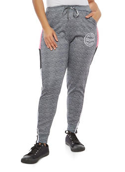 Plus Size Blessed Graphic Sweatpants - 1951063404793
