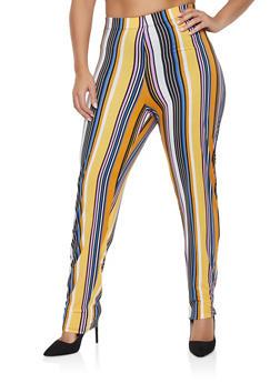 5a6d8e8d1a3 Plus Size Striped Soft Knit Pants - 1951074280030