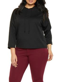 Plus Size French Terry Sweatshirt - 1951074281396