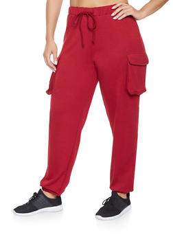 Plus Size Cargo Sweatpants - 1951074281397