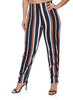 Plus Size Striped Casual Pants - 1951074283804