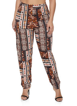 Plus Size Printed Casual Pants - 1951074283806