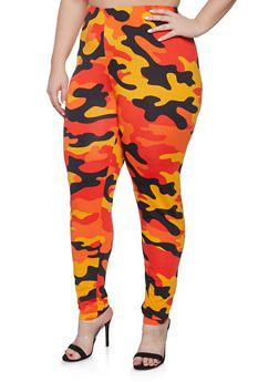 Plus Size Camo Pants - 1951074283808
