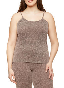 Plus Size Ribbed Knit Tank Top - 1951074289030