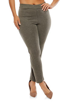 Plus Size Ribbed Knit Leggings - 1951074289070