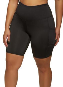 Plus Size 2 Pocket Bike Shorts - 1960001441147