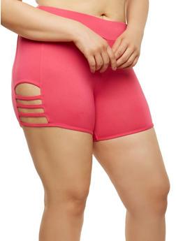 Plus Size Caged Shorts - 1960001441368
