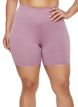 Plus Size Soft Knit Bike Shorts | 1960060581250 - 1960060581250