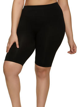 Plus Size Seamless Basic Bike Shorts - 1960061635477