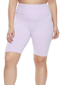 Plus Size Soft Knit Bike Short - 1960061635596