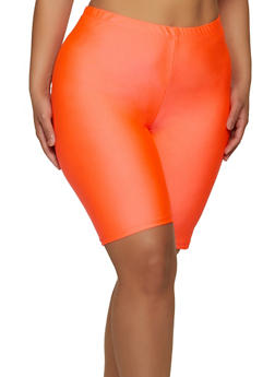 Plus Size Spandex Solid Bike Shorts - 1960062123600