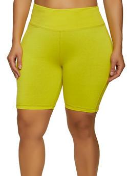 Plus Size Tummy Control Bike Shorts - 1960062702259