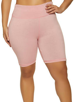 Plus Size Tummy Control Bike Shorts - 1960062702259