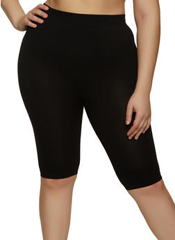 Plus Size Knit Bike Shorts - 1960062702879