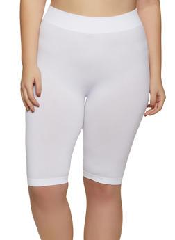 Plus Size Knit Bike Shorts - 1960062702879