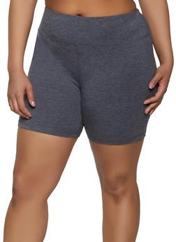 Plus Size Tummy Control Bike Shorts - 1960062703259