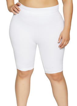 Plus Size Bermuda Bike Shorts - 1960062703870