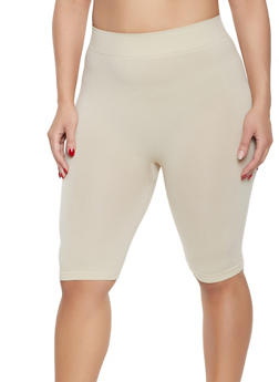 Plus Size Bermuda Bike Shorts - 1960062703870