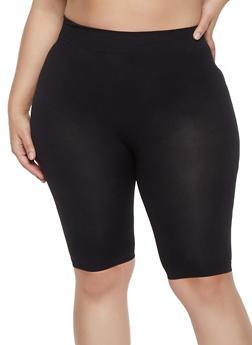 Plus Size Seamless Bike Shorts - 1960062703879