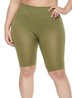 Plus Size Seamless Bike Shorts - 1960062703879