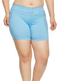 Plus Size Stretch Shorts - 1960063400251
