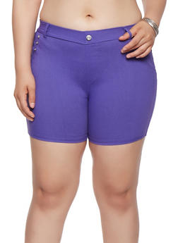 Plus Size Stretch Shorts - 1960063400286