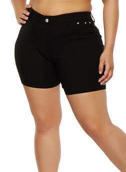 Plus Size Stretch Shorts - 1960063407277