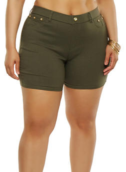Plus Size Stretch Shorts - 1960063407277